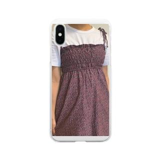 mimichi_53の今日の私のワンピース Soft clear smartphone cases