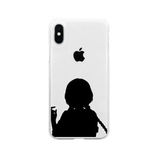 シルエット Soft clear smartphone cases