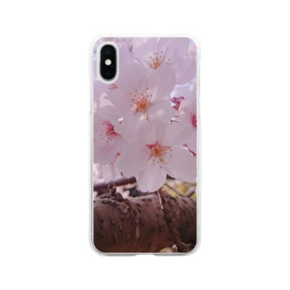 桜 Soft clear smartphone cases