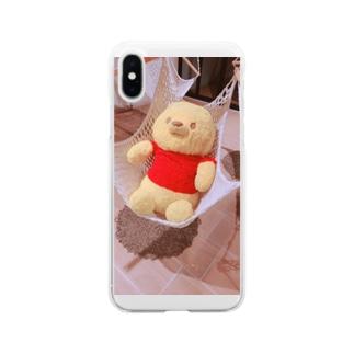 nana05のプーさん Soft clear smartphone cases