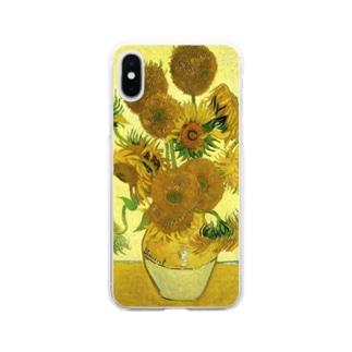 ゴッホ / ひまわり / Still Life - Vase with Fifteen Sunflowers Vincent van Gogh Soft clear smartphone cases