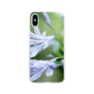 Angel of Agapanthus 170702 Soft Clear Smartphone Case
