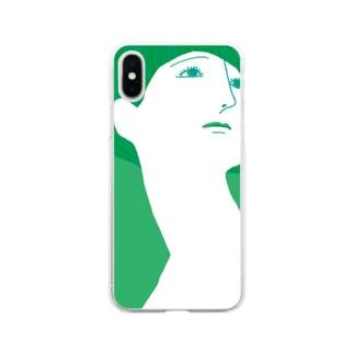 mya-mya=MIYA JUNKO's shop 02のBeautiful neck Soft Clear Smartphone Case