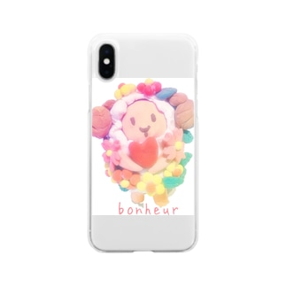 花ちゃん Soft clear smartphone cases