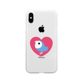 コザクラインコバイオレット Soft clear smartphone cases