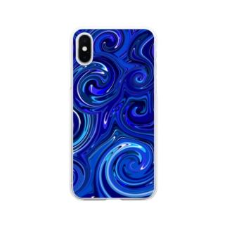 ウェ-ブ Soft clear smartphone cases
