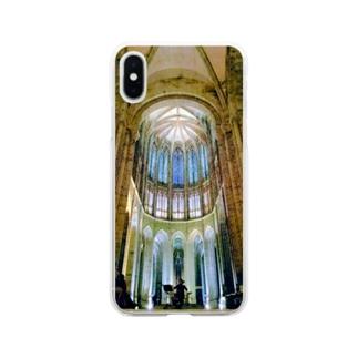 フランスの教会の 或る夜の 音楽会 Soft clear smartphone cases