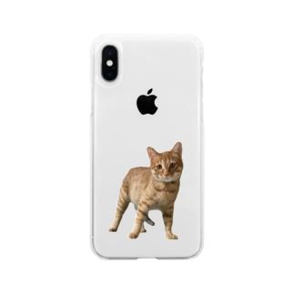 チャム&シロ Soft clear smartphone cases