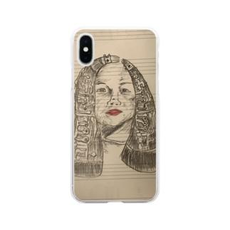 クラリネットのビーナス Soft clear smartphone cases