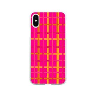 Isariショップのオリジナル チェック柄 Soft clear smartphone cases