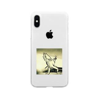 ボヘミアン鳥獣 Soft clear smartphone cases