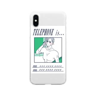 電話の相手(素直になれなくて編) Soft clear smartphone cases