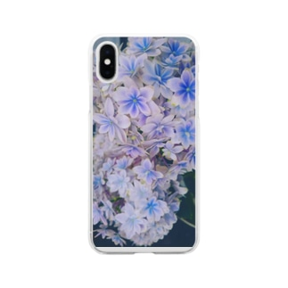 紫陽花 Soft clear smartphone cases