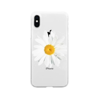 daisy flower Soft clear smartphone cases