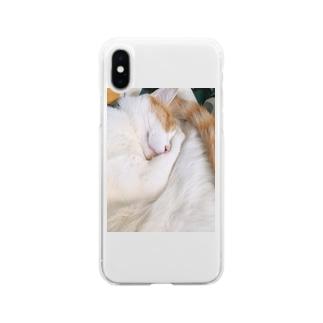 ぐっすりしゃもじ。 Soft clear smartphone cases