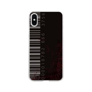 「シンプルにバーコードデザイン Soft clear smartphone cases