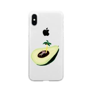 楽園のアボガド Soft clear smartphone cases