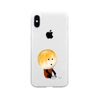 お団子団長【靴下を履く!】 Soft clear smartphone cases