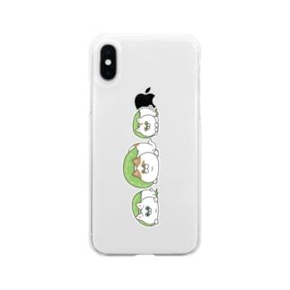 もちもちかぞく Soft clear smartphone cases