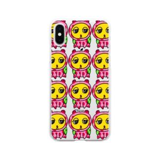 カメ カエルver. クリア Soft clear smartphone cases