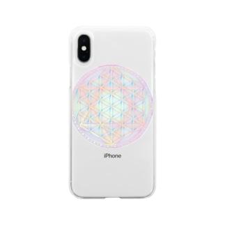 Rainbow Flower of Life & Hexagram Soft clear smartphone cases