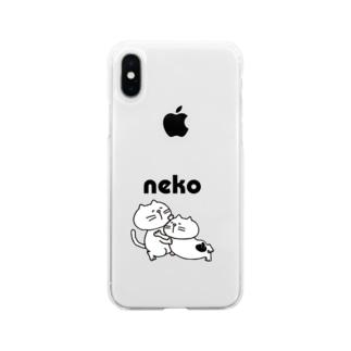 やる気のないネコ(ひしめき愛) Soft clear smartphone cases