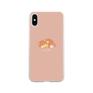 しば紅茶 Soft clear smartphone cases