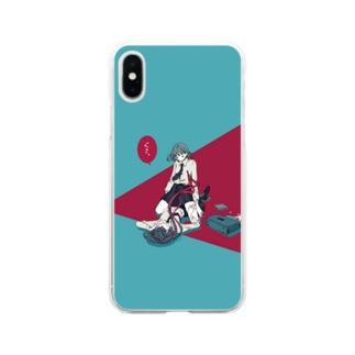ぐさっ Soft clear smartphone cases