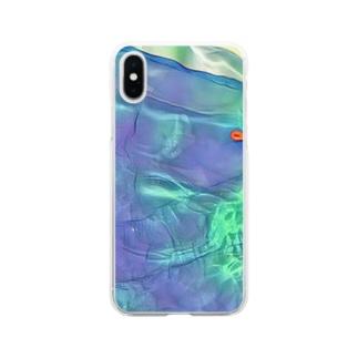 プールの水 Soft clear smartphone cases