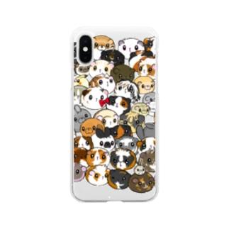 モル大集合 Soft clear smartphone cases