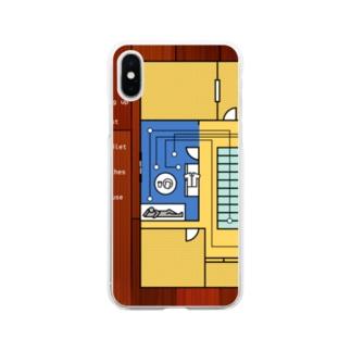 モーニングルーティン 黄 Soft clear smartphone cases