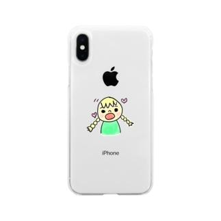 サリーちゃん Soft clear smartphone cases