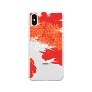 紅津軽 Soft clear smartphone cases
