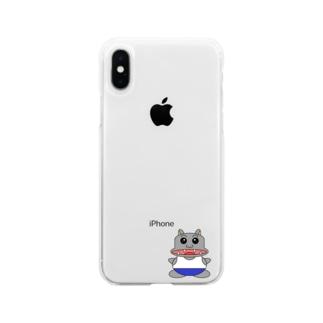 キラキラかばさん Soft clear smartphone cases
