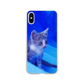 ひつじのアトリエ【公式】のモロッコでたたずむ猫さん Soft clear smartphone cases
