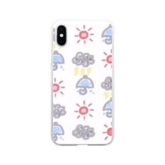 天気いっぱい Soft clear smartphone cases