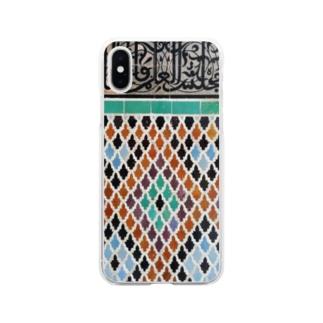 モロッカンタイル【フェズ】 Soft clear smartphone cases