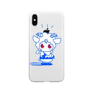 ヒツジのメルメル Soft clear smartphone cases