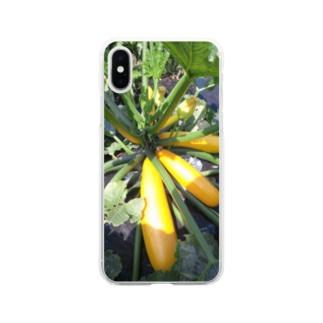 ズッキーニ・イエロー① Soft clear smartphone cases