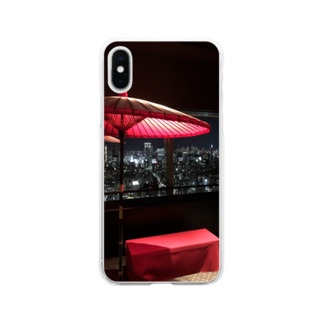 恵比寿 綺麗な夜景 Soft clear smartphone cases