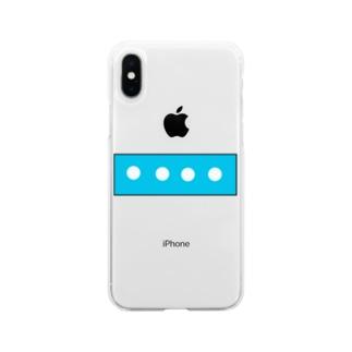 てんてんてんてん Soft clear smartphone cases
