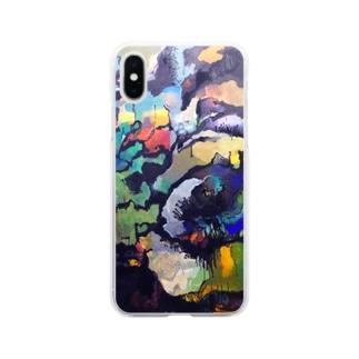 石の花 Soft clear smartphone cases