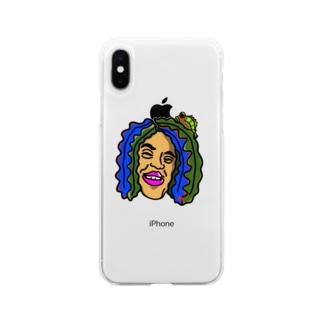 ワカメドレッド Soft clear smartphone cases