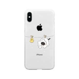 天日干し Soft clear smartphone cases