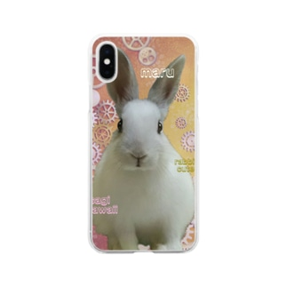うさぎのまる Soft clear smartphone cases