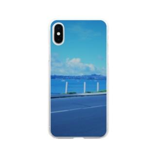 ニュージーランドの海沿い Soft clear smartphone cases
