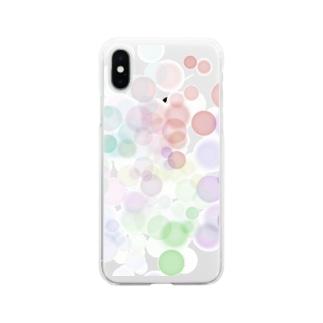 ポワポワ Soft clear smartphone cases