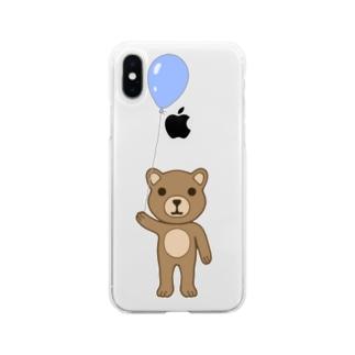 クマ Soft clear smartphone cases