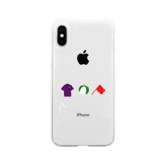 ビーチ三点 Soft clear smartphone cases
