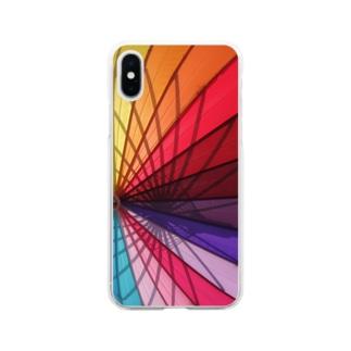 Colorful Umbrella Soft clear smartphone cases